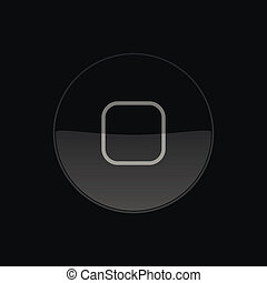 Home Button, Icon. Round. Vector Illustration