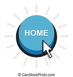 home button icon, vector.