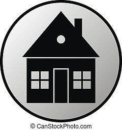 Home button on white