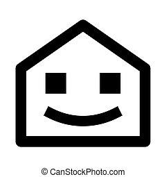 Home Button Smile Web Icon - msidiqf