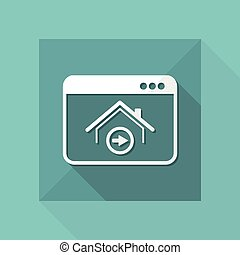 Home button web - Vector flat icon