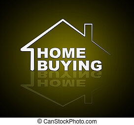 Home Buying Guide Icon Depicts Evaluation Of Buying Real Estate - 3d Illustration
