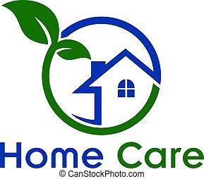 Home Care Creative And Symbolic Logo Design. - Home logo. ...