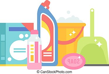 Home chemistry isolated vector illustration. - Set tools for...