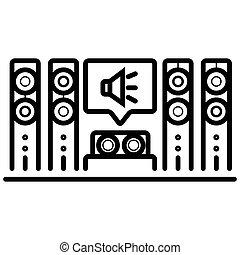 Home cinema icon illustration