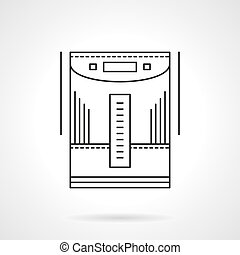Home climate devices flat line vector icon