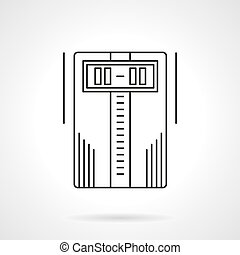 Home climatic system flat line vector icon