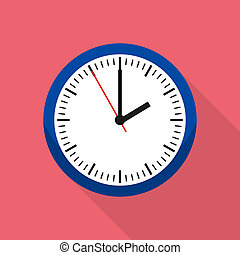 Home clock icon, flat style