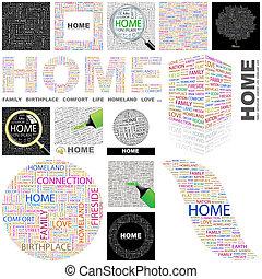 Home. Concept illustration.