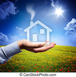 home concept in your hand - scene - home concept in your...