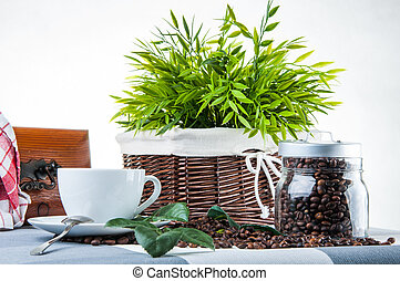 Home concept with coffee - Coffee time in home
