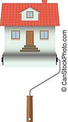 Home construction. House Icon Isolated on white background. Illustration.