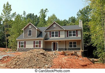 Home Construction - Photographed home construction in...