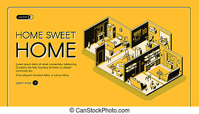 Home construction plan isometric website