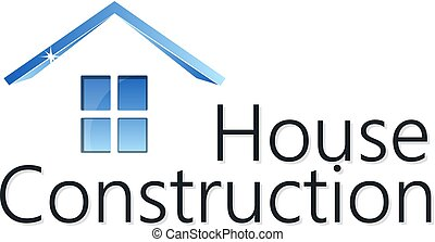 Home construction silhouette