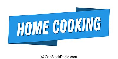 home cooking banner template. ribbon label sign. sticker - ...
