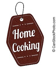 Home cooking brown label or price tag