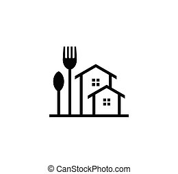 home cooking concept design line minimalist