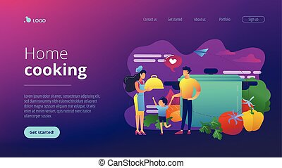 Home cooking concept landing page.