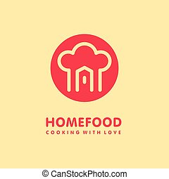 Home cooking food logo
