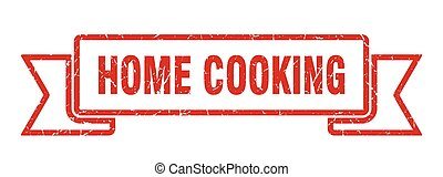 home cooking grunge vintage retro band. home cooking ribbon...