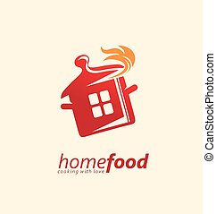 Home cooking logo design idea