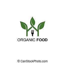 home cooking organic food logo design template