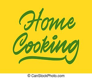Home cooking vector lettering