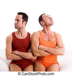 Home couple looks up - An insight into a happy homo couples...