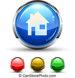 Home Cristal Glossy Button