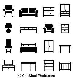 decor furniture icon clipart icons clip illustration illustrations office bitontawan02