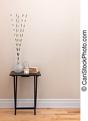 Home decor, little table with decorations - Home decor....