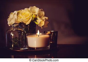 home decor on an a table