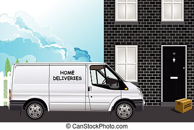 Home deliveries by courier - Express delivery parcel being ...