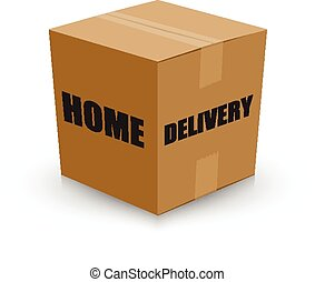 home delivery card board box