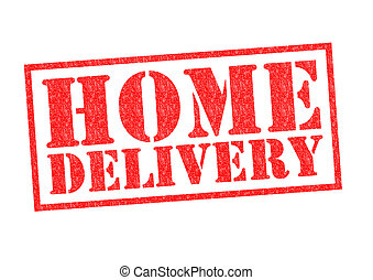 HOME DELIVERY Rubber Stamp over a white background.