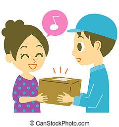 home delivery service, illustration