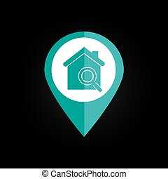 Home desgin over black background vector illustration - Home...