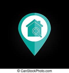 Home desgin over black background vector illustration - Home...