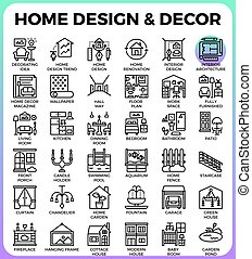 Home Design and Decor icons