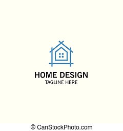 Home design, construction. Vector logo template