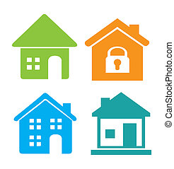 Home design over white background, vector illustration