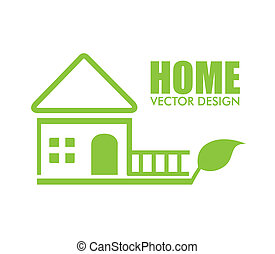 EPS Vectors of home design over green background vector ...