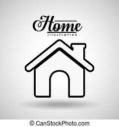 Home design, vector illustration.