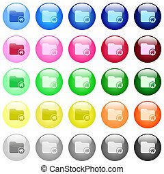 Home directory icons in color glossy buttons