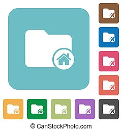 Home directory rounded square flat icons
