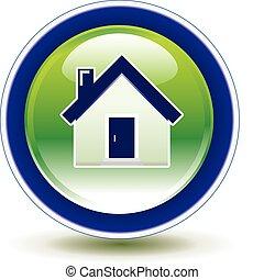 Home round icon