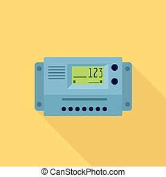 Home electric meter icon. Flat illustration of home electric meter vector icon for web design