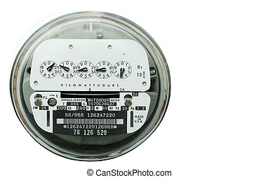 A isolated home electric power meter