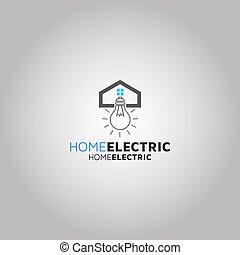Home Electric Vector logo design template